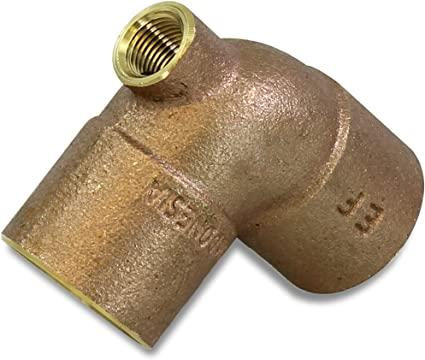 Cast Brass Baseboard Tees CxFxC