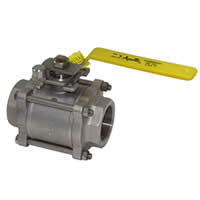 86R-100 3-Piece Full Port Ball Valve