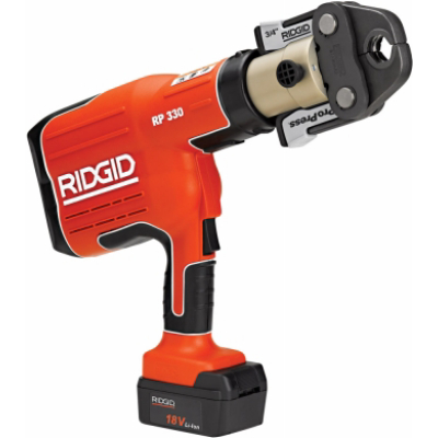 Ridgid 27913 RP330-B ProPress Crimp Tool w/ Batteries, Charger and Case