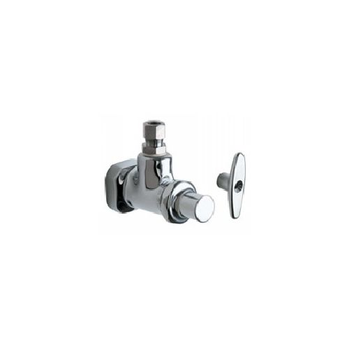Chicago Faucets 1012-ABCP  Universal Angle Stop Fitting Polished Chrome