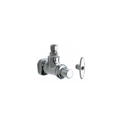 Chicago Faucets 1013-ABCP Universal Angle Stop Fitting Polished Chrome