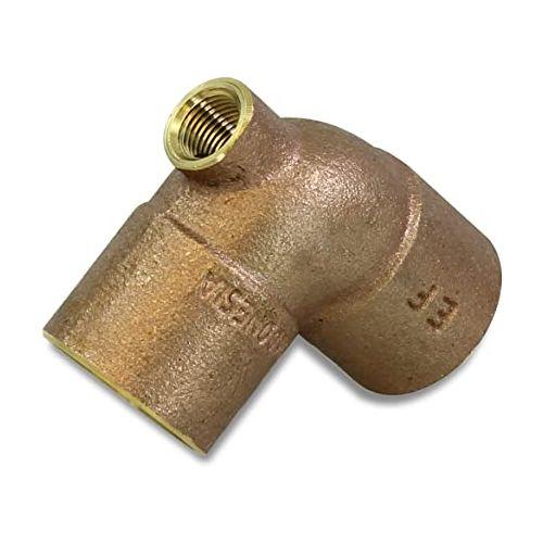 """1""""x1/8""""x1"""" CxFxC Cast Brass Baseboard Tee Cello CPCBT-160216"""