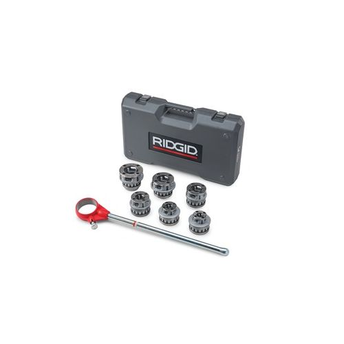 "Ridgid 55207 Threader, 12-R 1/2"" - 2 "" Die Set With Ratchet And Handle"