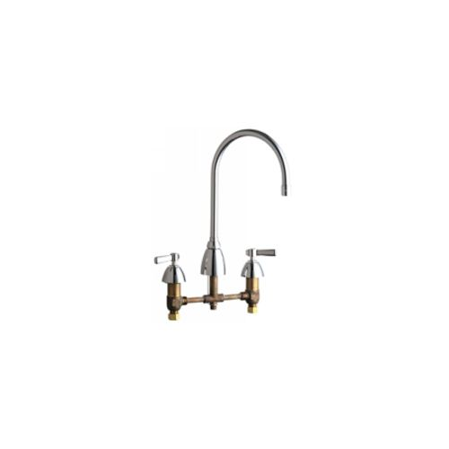 Chicago Faucets 201-AGN8AE3ABCP Universal Concealed Widespread Kitchen Sink Faucet Polished Chrome -