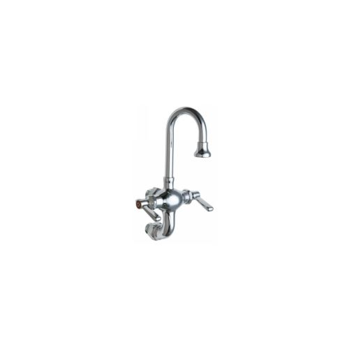Chicago Faucets 225-ABCP Universal Wall Mounted Service Sink Polished Chrome -