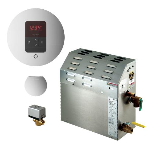 Mr Steam MS90EC1 - 5kW Steam Bath Generator with iTempo Autoflush Round Package 90C1ATRD-PN