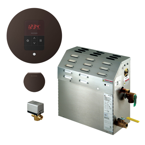 Mr Steam MS225EC1 Steam Bath Generator with iTempo Autoflush Round Package In Oil Rubbed Bronze