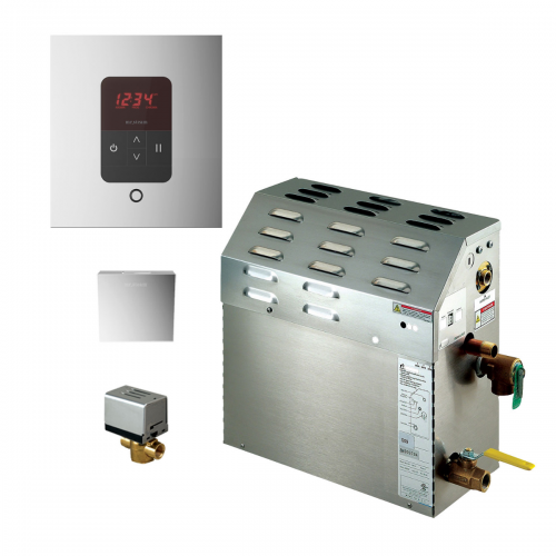 Mr Steam MS400EC1 - 9kW Steam Bath Generator with iTempo Autoflush Square Package 400C1ATSQ