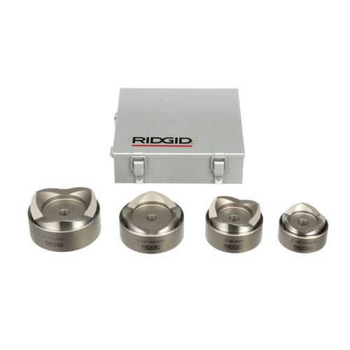 """Ridgid 23492 KOPD-254 Set w/ 2-1/2"""", 3"""", 3-1/2"""" & 4"""" Punches & Dies and Case"""