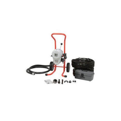 Ridgid 91032 K-1500SP-A Drain Cleaner w/ C-14 Cables & Tools Kit