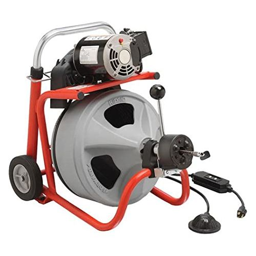 "Ridgid 27003 K-400 Drain Cleaner with 1/2""x50' C-44IW Cable (115V)"