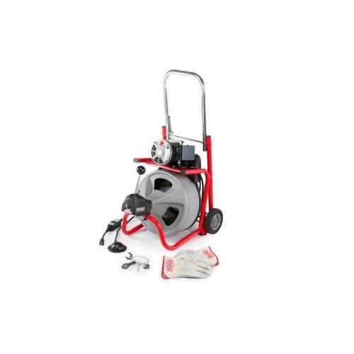 "Ridgid 27013 K-400-AF Drain Cleaner with 1/2""x75' C-45IW Cable (115V)"