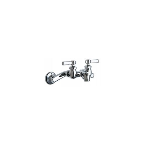 Chicago Faucets 305-RCP Universal Wall Mounted Service Sink with Adjustable Centers Polished Chrome