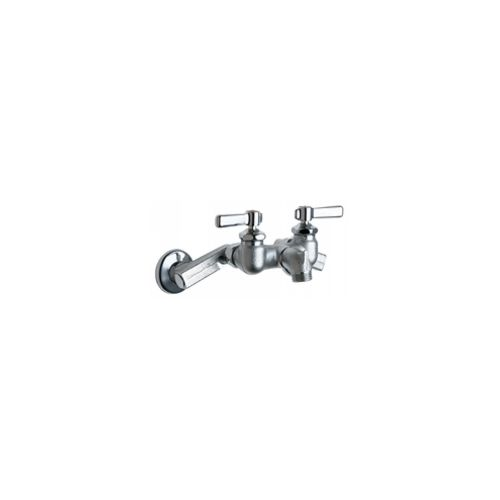 Chicago Faucets 305-RRCF Universal Wall Mounted Service Sink with Adjustable Centers Polished Chrome -