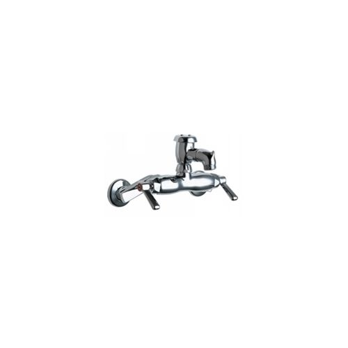 Chicago Faucets 305-VBCP Universal Wall Mounted Service Sink with Adjustable Centers Polished Chrome -