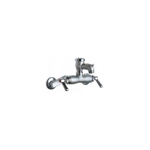 Chicago Faucets 305-VBRCF Universal Wall Mounted Service Sink with Adjustable Centers Polished Chrome -