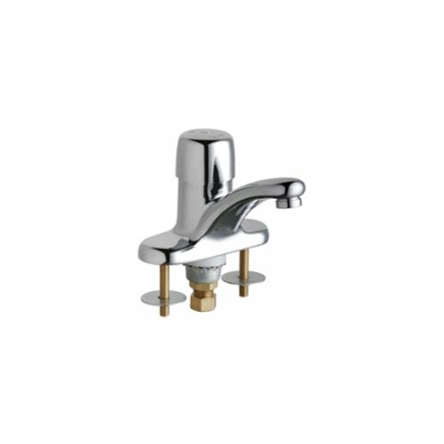 Chicago Faucets 3400-ABCP Universal Deck Mounted Single Handle Metering Faucet Polished Chrome -