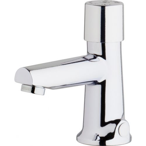 Chicago Faucets 3501-E2805ABCP Single Supply Hot / Cold Water Basin Faucet