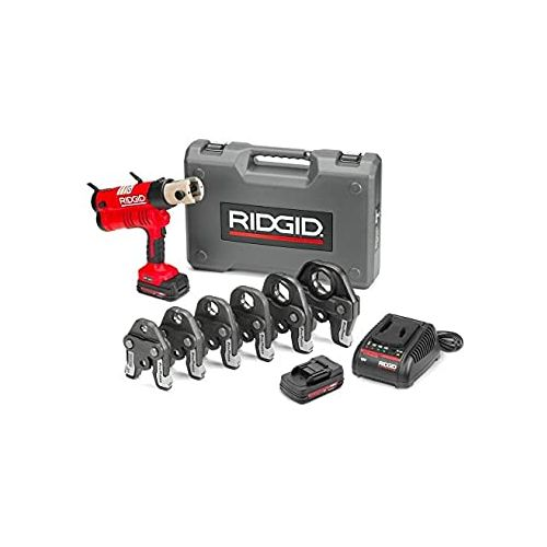 "Ridgid 43358 RP-340 Battery Press Tool Kit w/ ProPress Jaws (1/2""-2"")"