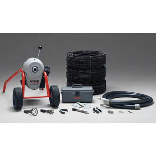 Ridgid 91027 K-1500SP-B Drain Cleaner w/ C-14 Cables & Tools Kit