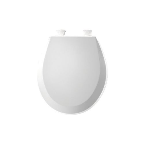 Bemis 500EC-000 Toilet Seat Round CFWC with Easy Clean Hinge