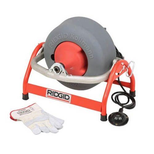 Ridgid 53107 K-3800 Drum Machine with Gloves (No Cable)