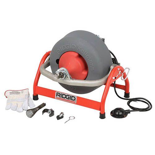 Ridgid 53122 K-3800 Drum Machine with C-45 Drain Cable