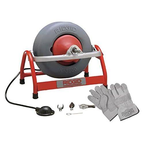 Ridgid 53127 K3800 Drum Machine with C-46 Drain Cable