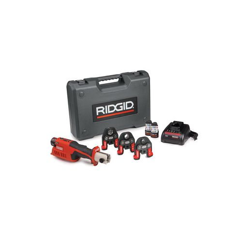 "Ridgid 57378 RP-241 Press Tool Kit w/ PureFlow Pex Jaws (1/2""-1"")"
