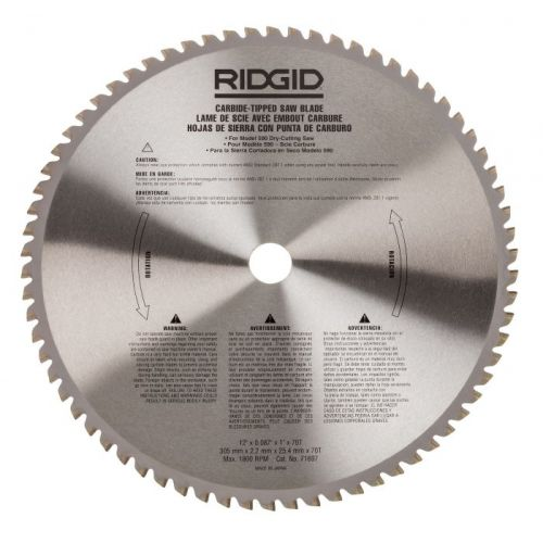 """Ridgid 71697 12"""" Carbide-Tipped Blade (60 tooth) For 614 Saw"""