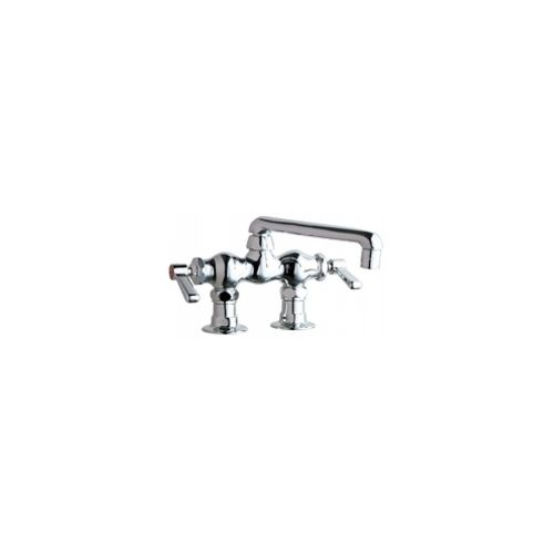 Chicago Faucets 772-ABCP Universal Deck Mounted Sink Faucet Polished Chrome -