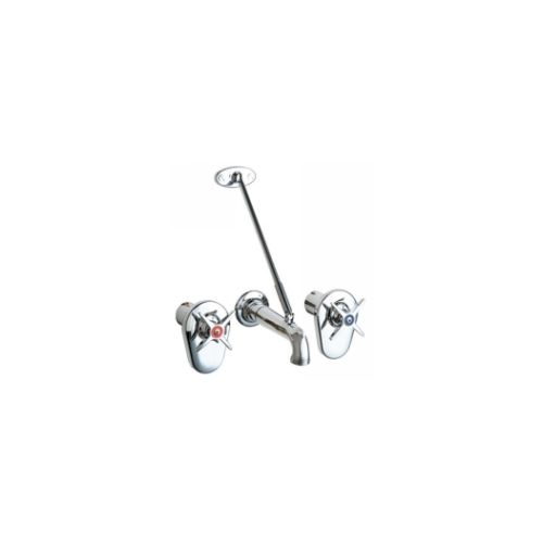 Chicago Faucets 782-ISCP Universal Concealed Service Sink Faucet  Polished Chrome -