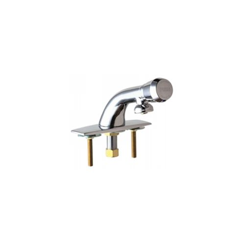 Chicago Faucets 857-665PSHABCP Universal Metering Single Hole Faucet Polished Chrome -