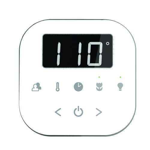Mr Steam AirTempo Control Package in White AIRTWH - Polished Nickel