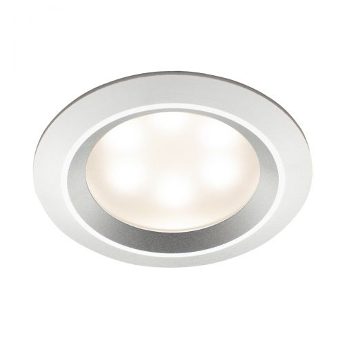 Mr Steam Recessed LED Light in Aluminum Satin