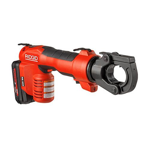 Ridgid 57573 RE-600 RDH Electrical Crimp Tool w/ Latching Round Crimp Head