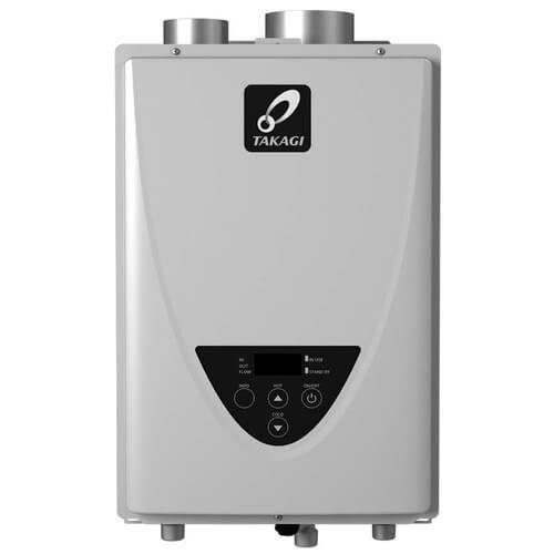 Takagi TK-110U-I Tankless Water Heater 140,000 BTU Natural Gas/Propane Indoor Ultra Low NOx