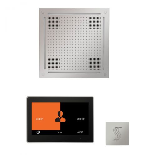"""Thermasol Wellness Hydrovive Steam Package w/10"""" ThermaTouch Square"""