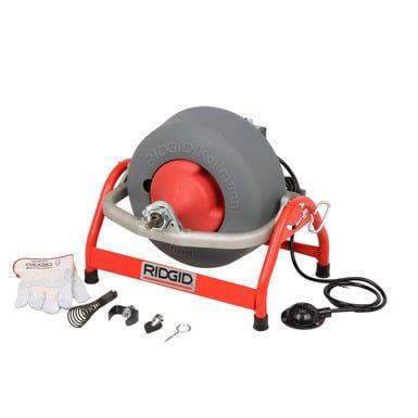 Ridgid 53112 K-3800 Drum Machine with C-31 Drain Cable