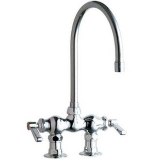 Chicago Faucets 772 Gn8ae3abcpchicago Faucets 2 Handle Kitchen Faucet In Chrome