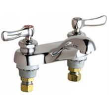 Chicago Faucets 802-ABCP Universal Centerset Deck Mounted Faucet with Lever Handles Polished Chrome