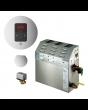 Mr Steam MS150EC1 Steam Bath Generator with iTempo Autoflush Round Package In Polished Nickel