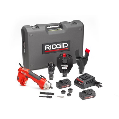 Ridgid 44343 RE 6 Electrical Tool Kit w/SC-60C Scissor Cutter, 4P-6 4PIN Dieless Crimp Head and PH-60B Punch