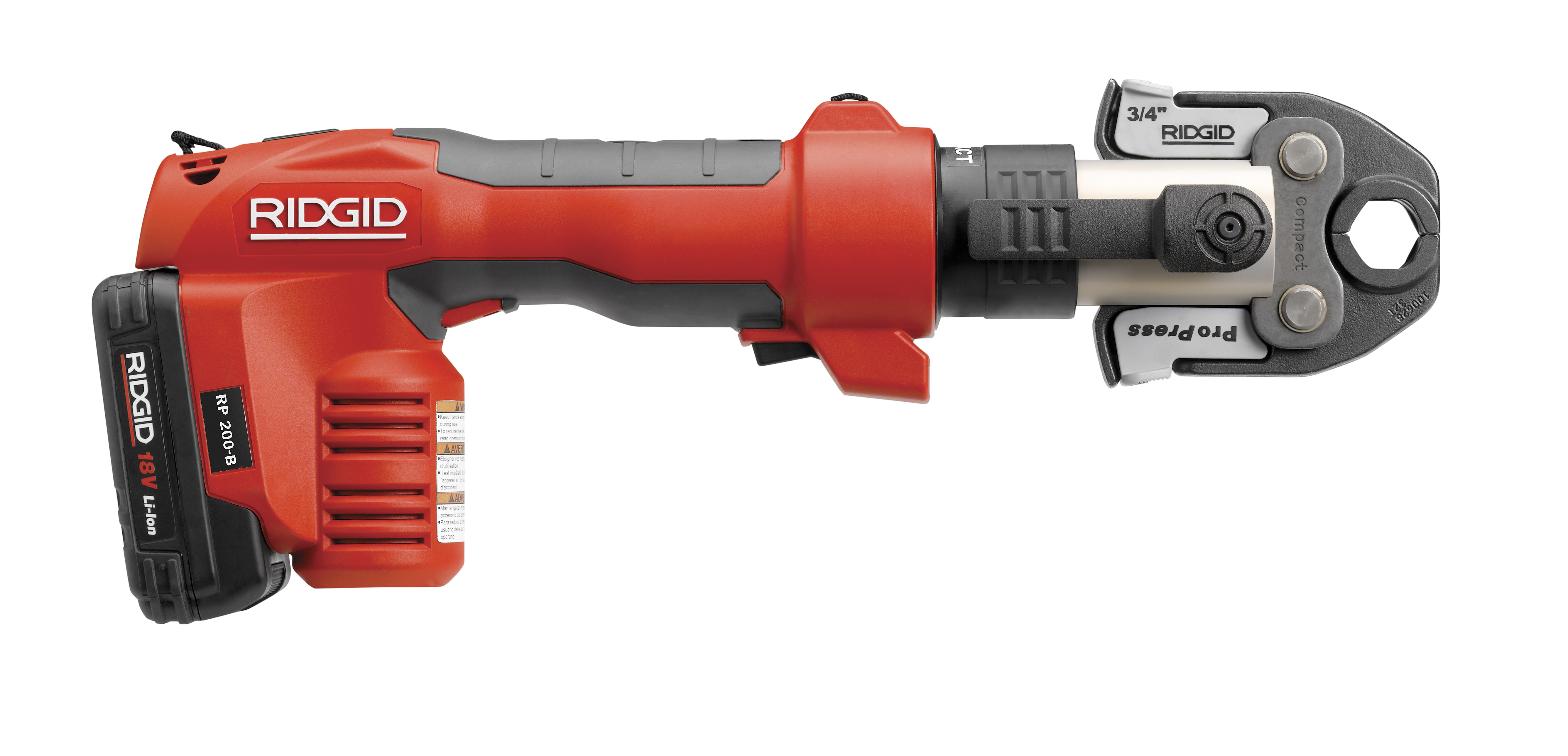 Ridgid 43428 RP 200 ProPress Tool with Jaws  1/2 to 1 1/4  - Battery Operated